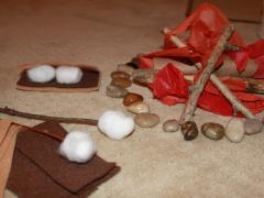 Pretend Campfire (with S'mores!)
