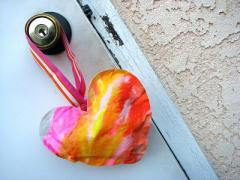 Repurposed Art: Puffy Hearts