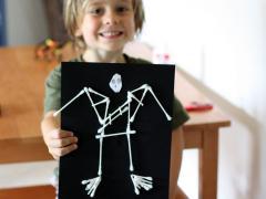 Halloween Q-Tip Skeleton