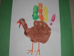 Painted Hand Turkey