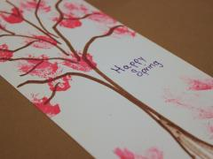 Cotton Cherry Blossom Painting