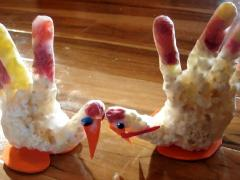 Thanksgiving Popcorn Turkey Craft