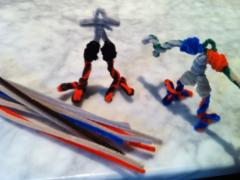 Pipe Cleaner Action Figures