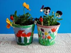 Easy Mother's Day Project-Painted Pots