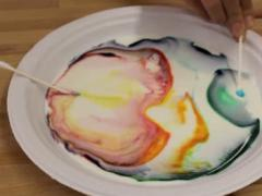 Exploding Colors in Milk