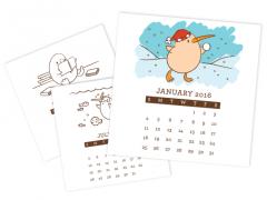 CD Desk Calendar Printables
