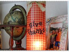 Thanksgiving Luminary Vase