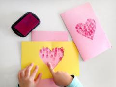 Valentine Fingerprint Stencil Heart