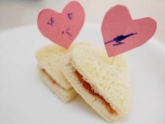 Heart-Shaped Sandwich