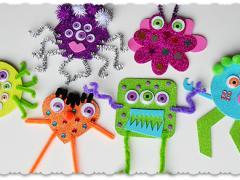Glitter Foam Monsters