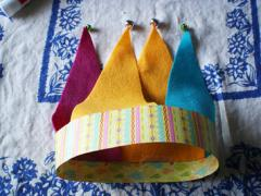 Felt and Paper Jester Hat