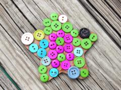 Button Mosaic Magnet