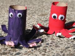 Cardboard Tube Octopus
