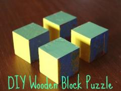 Wooden Block Rainbow Puzzle