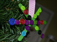 Button Snowflake Ornaments