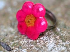 Melted Bead Flower Rings