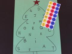 Christmas Tree Alphabet Matching