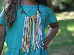 T-Shirt Fringe Necklace