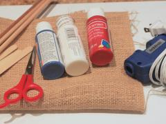 DIY Burlap American Flags