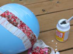 Mod Podge Fabric Easter Basket