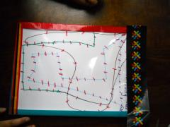 Duct Tape Dry Erase Board