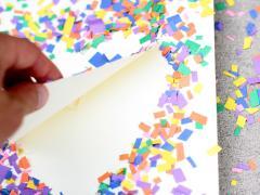 Confetti Heart Art
