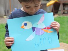Paint Chip Bird Art