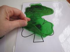 Sparkly Shamrock Sun Catchers