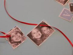 Recycled Holiday Card Ornaments