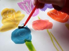 Relief Art: Spring Flower Bouquet