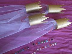 Cardboard Tube Doll Crowns