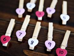 Valentine's Clothespin Counting Card