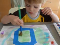 Masking Tape + Watercolor