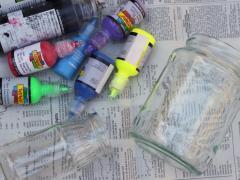 3D Paint Mason Jars