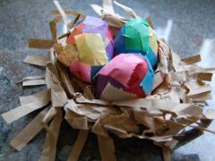 Paper Bags + Scissors = Nest