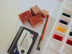 Stamps and Watercolors