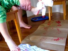 Handprint Wrapping Paper