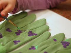 Stamped Garden Gloves