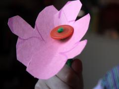 Paper and Button Flowers