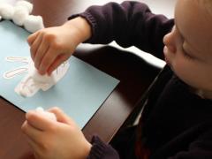 Handprint Bunny Card
