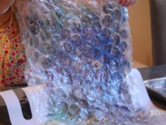 Bubble Wrap & Paint