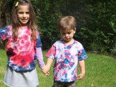 Red, White and Blue Tie Dye T-shirt