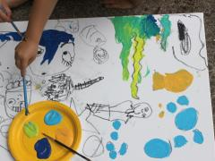 Canvas Painting with Kids