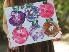 Apple Stamp Art