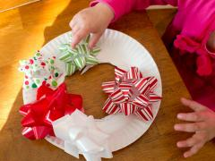 Gift Bow Christmas Wreath