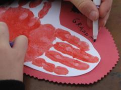 Handprint and Footprint Valentines