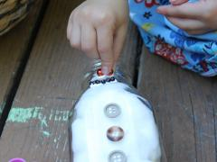 Snowman Milk Bottle