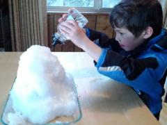 Snow + Hot Water = Melting Experiments