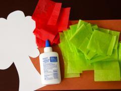 Tissue Paper Trees Craft