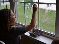 Rainy Day Window Painting